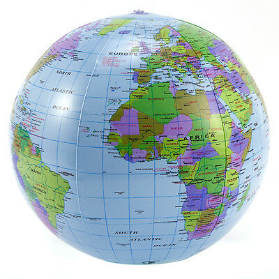 5-10x Inflatable World Earth Globe Atlas Map Beach Ball Geography Education Toy