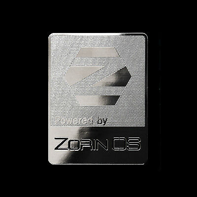 Powered by Zorin OS Linux Metal Decal Sticker Case Computer PC Laptop Badge