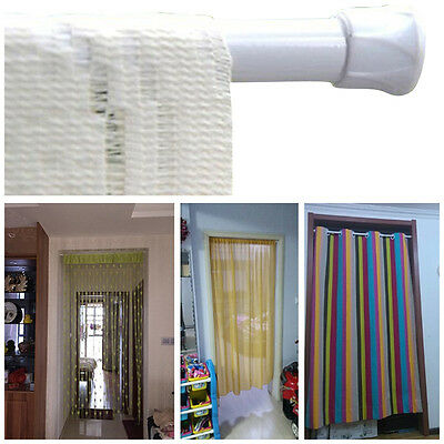 Spring-loaded Shower Curtain Rod Bath Bathroom Rail Hanger Pole Hardware Closet#