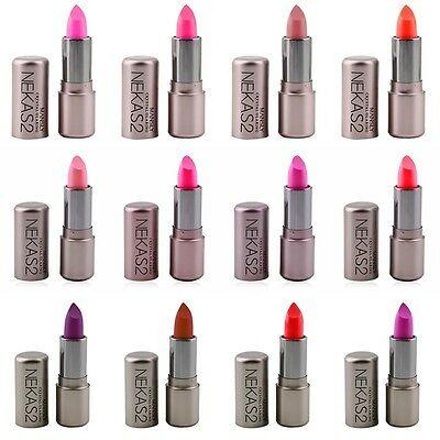 12 Colors Fashion Style Makeup Lipstick Lip Gloss Waterproof Long Lasting AU