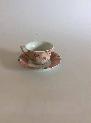 Royal Copenhagen Fairytale Terracotta Coffe Cup with Under Cup #073, #072.