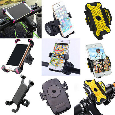 Motorcycle Bicycle Bike MTB Handlebar Mount Holder Stand For Mobile Phone GPS