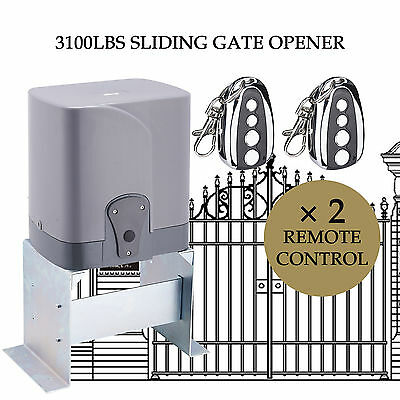 Automatic Sliding Gate Opener Driveway 3100lbs Remote Control Electric Operator