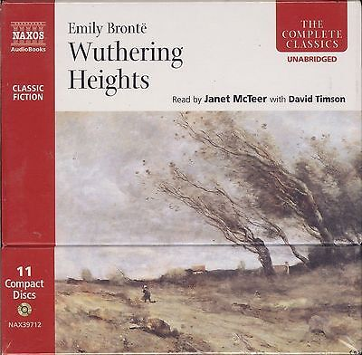Emily Bronte Wuthering Heights audiobook box CD NEW David Timson