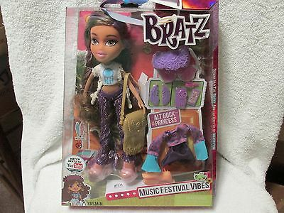 Bratz Music Festival Vibes Doll - Rock Yasmin-New In Package-FREE SHIPPING