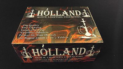 Holland Charcoal Box 10 Rolls of 10 Discs Resin Incense Burning Hookah Smoking