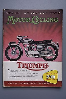 R&L Mag: Motor Cycling Nov 10 1955 Earls Court Bike Show Special Edition