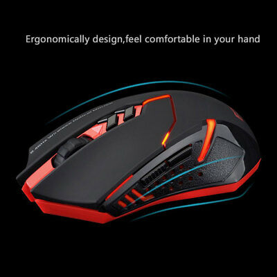 New Wireless Gaming Mouse USB Optical Microsoft Computer 2000DPI PC Laptop X-08