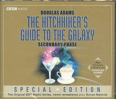 Douglas Adams Hitchhiker's Guide To The Galaxy Secondary Phase audiobook CD NEW