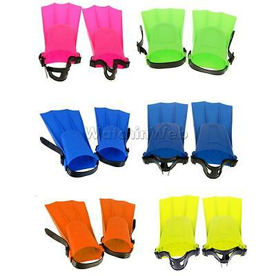 1 Pair Adults Kids Snorkeling Diving Swimming Fins Flippers Learning Tools