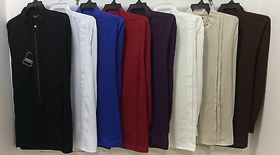 MEN'S BANDED(NEHRU)COLLAR LONG SLEEVES SHIRTS EMBROIDERY FRONT NEW $39.99 each