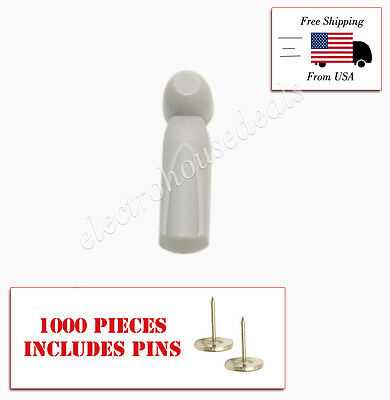 1000 pcs EAS Anti Theft RF Tags Security Tags Checkpoint ® Compatible with pins