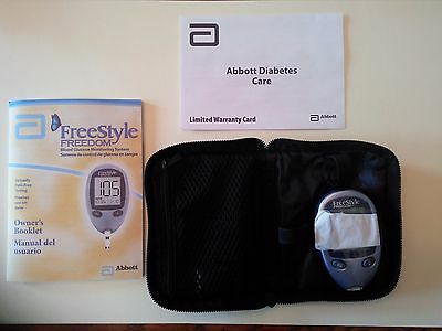 FreeStyle Freedom Blood Glucose Monitoring System Meter with Case Abbott
