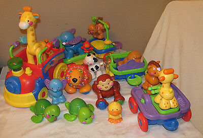 Fisher Price Amazing Animal Train HUGE Lot of Animals Works Musical Sing & Go