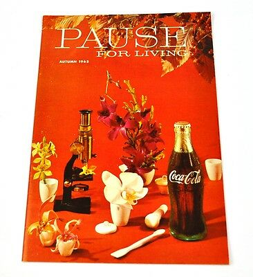 Coca-Cola Coke Pause for Living Magazin Heft USA Ausgabe Herbst 1963 Magazine