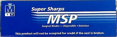 New MSP #64SP 64 SP Surgical Mini Blades Stainless Sterile 12/BX Miniature Edge
