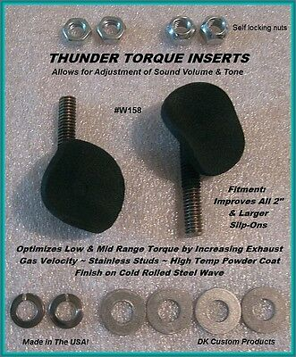 """DK Custom Products Thunder Torque Inserts 158W motorcycle exhaust inserts 1 5/8"""""""