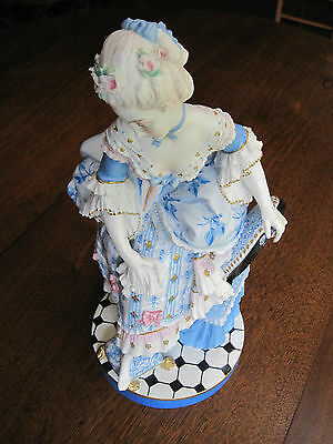 "ANTIQUE VION & BAURY ""VICTORIAN COURT LADY"" OLD PARIS HP BISCUIT FIGURINE 19thC"