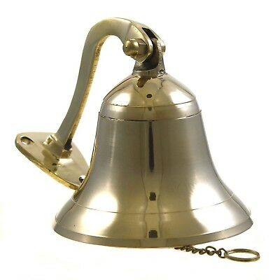 "Brass Polished Ship Bell 4"" Nautical Decoration New"