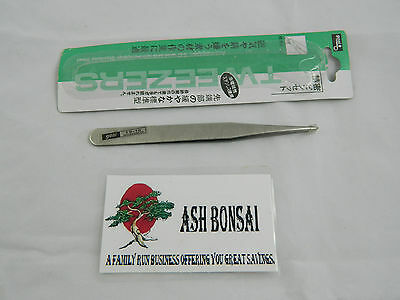 Professional japanese Stainless tweezers combi 120mm Quality tool Bonsai .