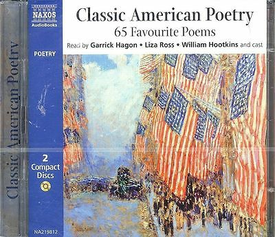 Classic American Poetry 65 Favourite Poems audio book CD NEW Longfellow Whitman