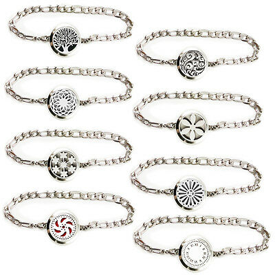 Stainless Steel Aromatherapy Essential Oil Diffuser Patterns Bracelet Jewelry