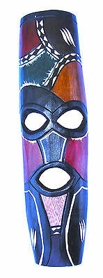 Small Colorful Hand Carved African Mask in Jacaranda Wood