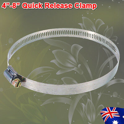 "Hydroponic 4""/5""/6""/8"" Quick Release Hose Clamp Fo Ventilation Fan Carbon Filter"