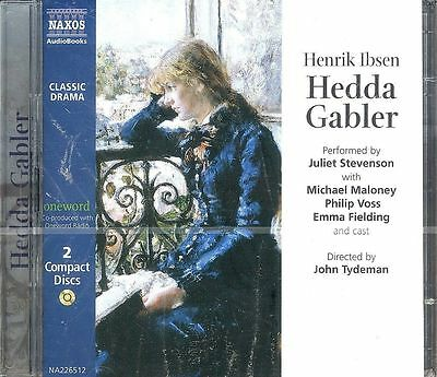Henrik Ibsen Hedda Gabler audio book CD NEW drama 2-disc