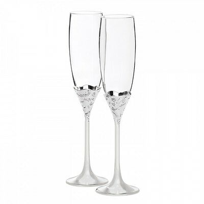 Wedgwood Vera Wang Lace Bouquet Toasting Flute Pair RRP$159