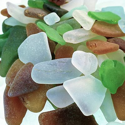 Genuine Natural Sea Glass Beach Glass - Over 100 pcs Seaglass Various Size/Color