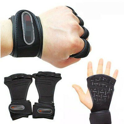 Weight Lifting Grips Training Gym Straps Gloves Hand Palm Support GYM Gloves