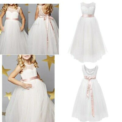 Formal Princess Bridesmaid Flower Girl Kid Dress Wedding Party Dresses Communion