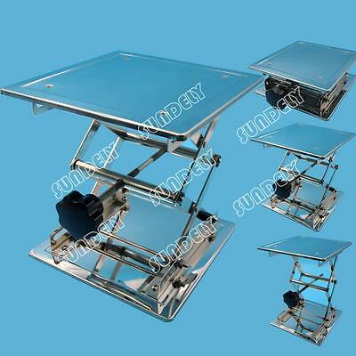 8'' Hi-Q Stainless Steel Lab Stand Table Scissor Lift laboratory Jiffy Jack