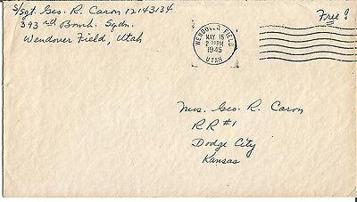 George Caron Enola Gay Tail gunner Hiroshima signed envelope WW2 Dated UACC