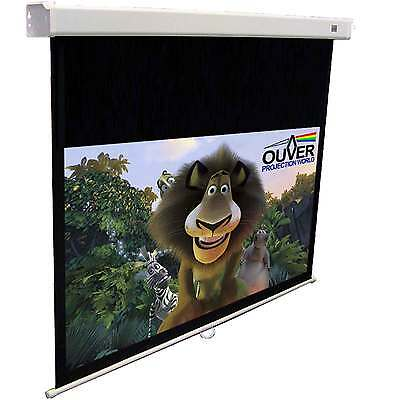 "Pantalla Proyeccion Manual Ouver Cine Convert 110"" New 244 16:9 Bmm"