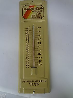 Dad's Dog Pet Food Dealer Advertising Thermometer Excellent Condition 911-V