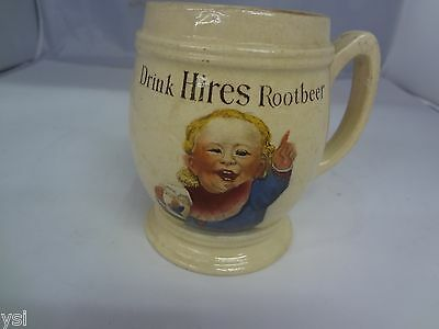 Vintage Hires Root Beer Ceramic Advertising Cup Mug Made In Germany  G-82