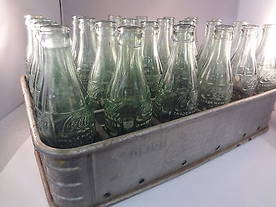 Coca Cola Coke Soda Metal 24 Bottle  Case W/ Bottl Rare Advertising Vintage G-23