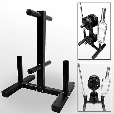 "BodyRip 2"" Olympic Weight Barbell Disc Plate Rack Stand Holder Tree Gym Storage"