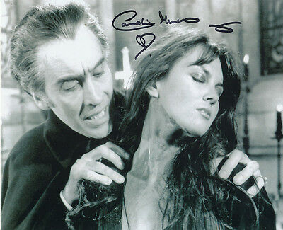 Caroline Munro Signed Photo with Christopher Lee - A586 - Dracula A.D. 1972