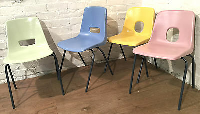 FOR HIRE Wedding Event Garden Party Vintage 1980s Painted Metal Stacking Chairs