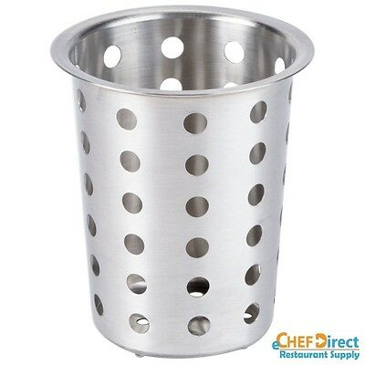 "New 4-1/2"" Dia Stainless Steel Perforated Flatware Cylinder"
