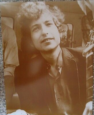 Bob Dylan In his Younger Days Sepia Poster