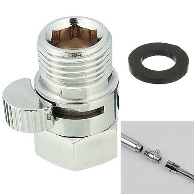 Brass 1/2 Inch Angle Valve Switch For Shower Head Hose Ceramic Disc Cartridge Pe