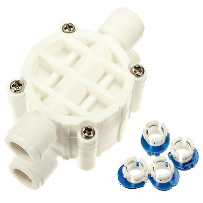 1/4 Inch 4 Way Reverse Water Filter Auto Shut Off Valve Osmosis System