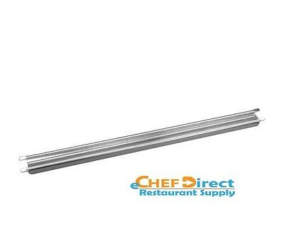 """NEW  12"""" Grooved Stainless Steel Steam Table Adaptor Bar"""