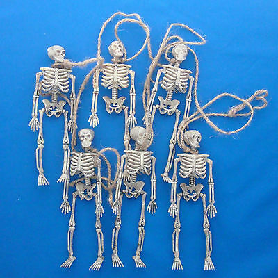 """80"""" string of Halloween gothic 6"""" tall jointed skeleton garland"""