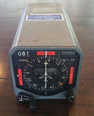 Collins Radio Type 331A-7 Aircraft HSI Course Indicator 522-3138-004