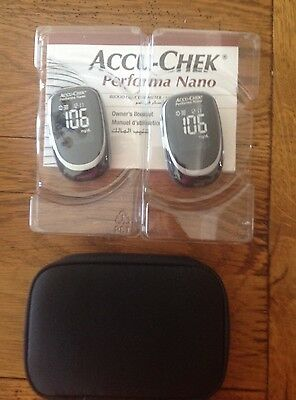Lot 2 - Accu-Chek  Nano Performa METERS, CASE & USER GUIDE - NEW AS PICTURED
